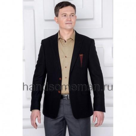 Пиджак мужской черный
