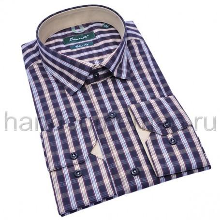 рубашка мужская синяя - Арт.1534