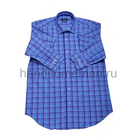 рубашка мужская синяя - Арт.1543