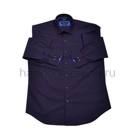 рубашка мужская темно-синяя - Арт.1544
