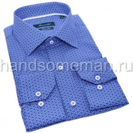 мужская рубашка голубая Арт. 1549