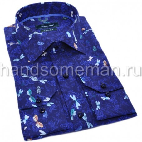 мужская рубашка синяя Арт. 1550