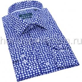 мужская рубашка синяя Арт. 1555