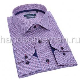 мужская рубашка фиолетовая Арт. 1556