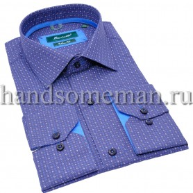 рубашка темно-голубая