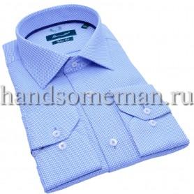рубашка бело-голубая