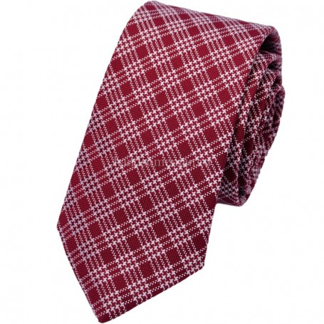 галстук красный в клетку