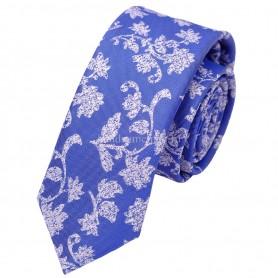 галстук голубой с рисунком