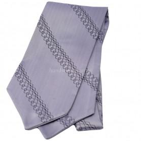 серый галстук с рисунком