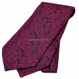 галстук бордовый с рисунком