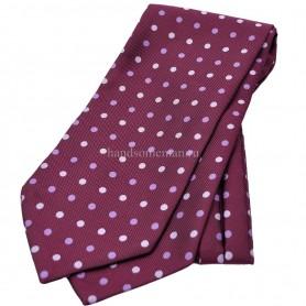 галстук красный в горох