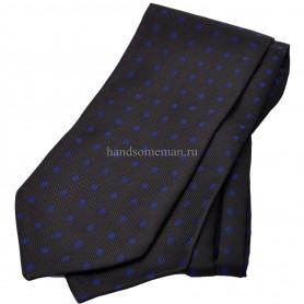 галстук черный в горох