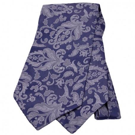 галстук серый с рисунком
