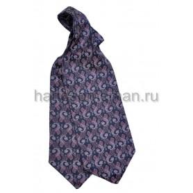 Шейный платок фиолетовый с рисунком. 424