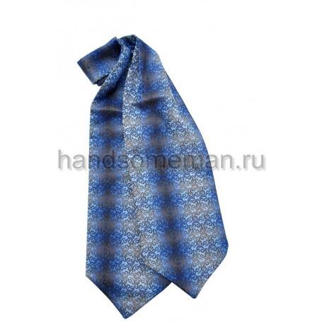 Шейный платок синий с полосой.  425
