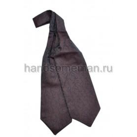 шейный  платок коричневого цвета с вензелями. 427