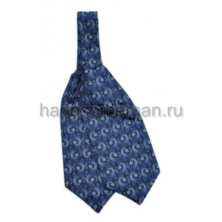 шейный платок синего цвета с вензелями. 429