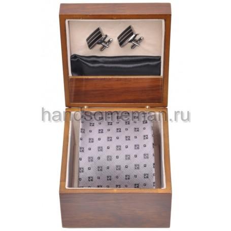 Подарочный набор Baurotti с серым галстуком. 195