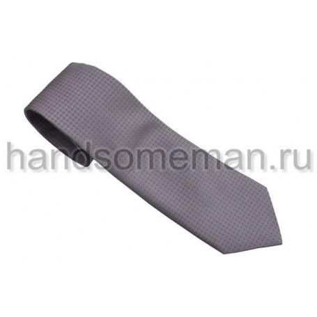 галстук серый с сиреневым. 555
