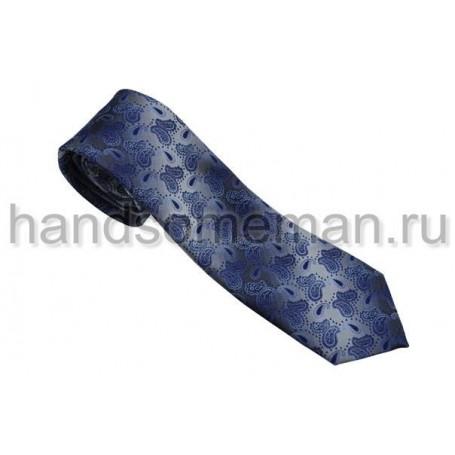 галстук сиреневый с серым. 556