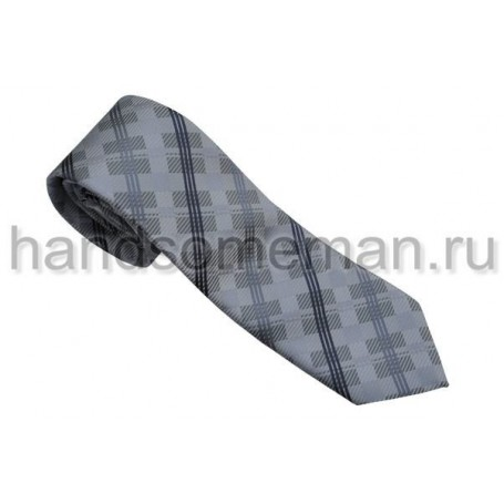 галстук серый с квадратами. 557