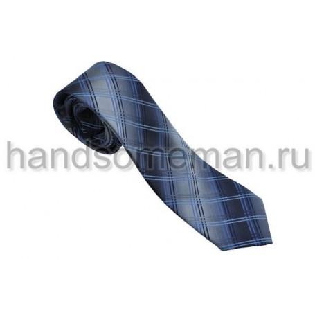 галстук в крупную, серую, клетку. 564