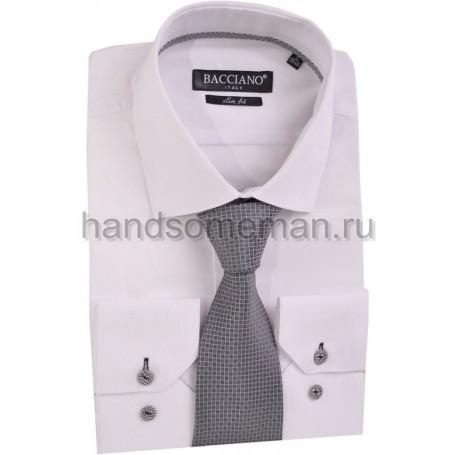 галстук серый в светлый квадратик. 590