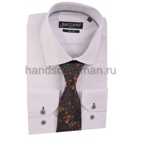 галстук в клетку с терракотовыми огурцами. 595