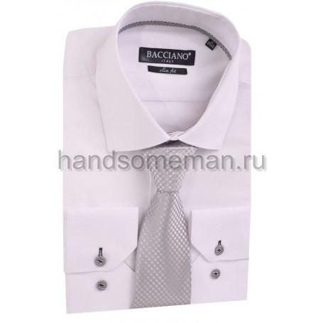 галстук светлый, сиреневый, набивной. 596