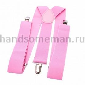Подтяжки розовые