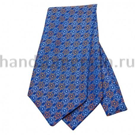Шейный платок с синим узором