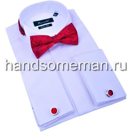Рубашка мужская под бабочку белая