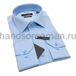 Рубашка лонг голубая