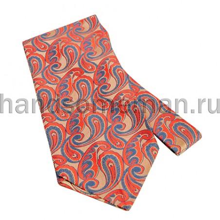 Шейный платок с красным рисунком