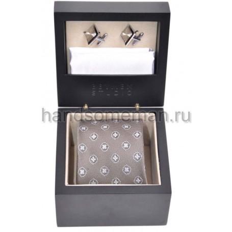 Подарочный набор с галстуком и запонками. 623