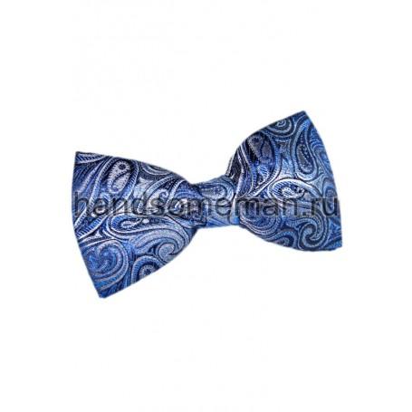 Бабочка голубая с рисунком. 687