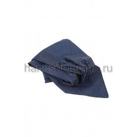 Шейный платок Baurotti синего цвета в горошек. 697