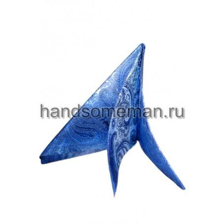 платок в карман светло-синий 707