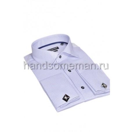 рубашка под запонки, фактурная.756
