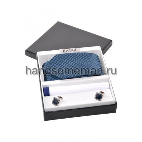 Подарочный набор с синим галстуком. 242