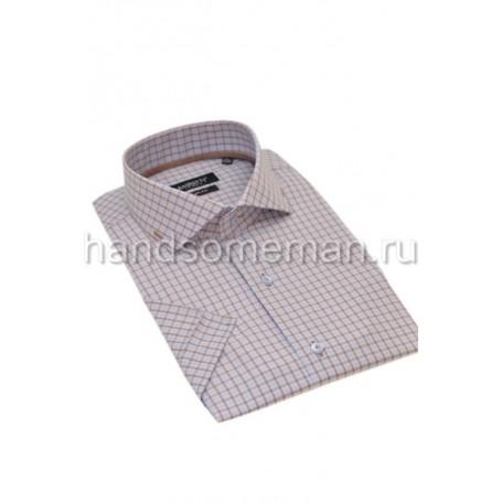 рубашка короткий рукав в мелкую клетку. 792