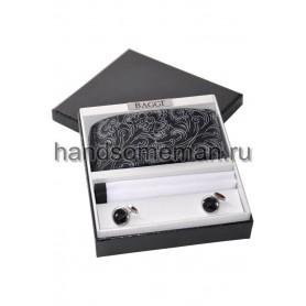 Подарочный набор с черным галстуком. 243
