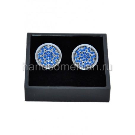 Запонки с синими камнями. 814