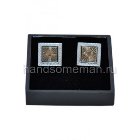 Запонки квадратные с рамкой. 815