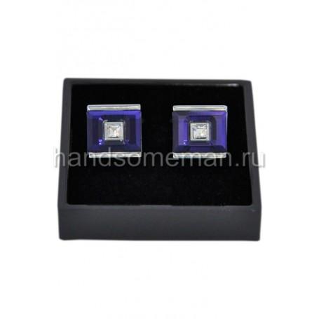 Запонки с фиолетовой отделкой. 819