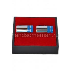 Запонки с голубыми полосками. 840