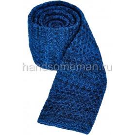 Галстук вязанный синий. 862