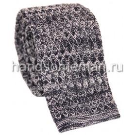 Вязанный галстук серого цвета. 938