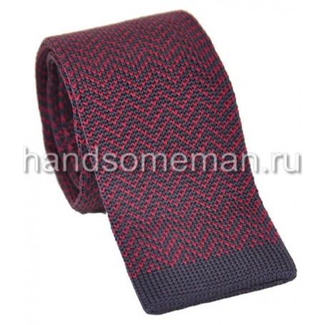 Вязанный галстук сиреневого цвета. 939