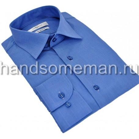 рубашка синяя, офисная. 955